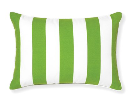 Rapee Riviera Stripe Green Pillow 14x20 (Outdoor)