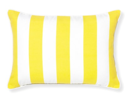 Rapee Riviera Stripe Lemon Pillow 14x20 (Outdoor)
