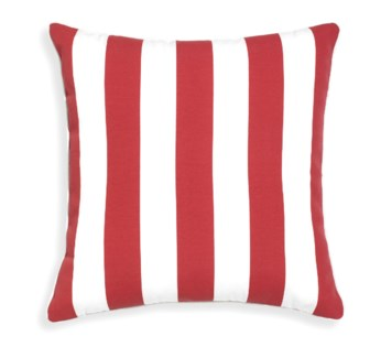 Rapee Riviera Stripe Red Pillow 20x20 (Outdoor)