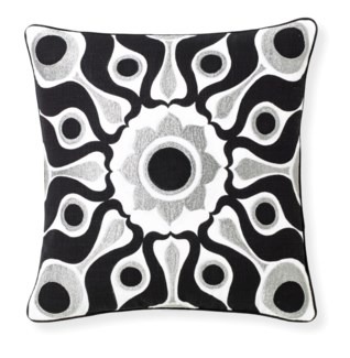 Florence Broadhurst Solar Black Cushion 18x18