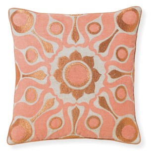 Florence Broadhurst Solar Papaya Pillow 18x18
