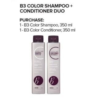 B3 COLOR SHAMPOO & CONDITIONER 350ML DUO//JA'18
