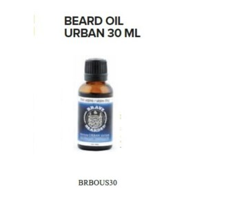 BRAVE AND BEARDED URBAN BEARD OIL 30ML