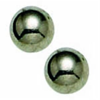 CR INV TITANIUM 4MM BALL EARRINGS W/LONG POST