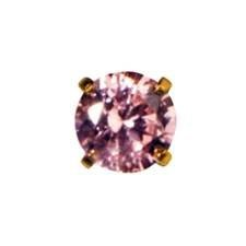 CR INV 24KT GP 5MM PINK ICE CZ EARRING