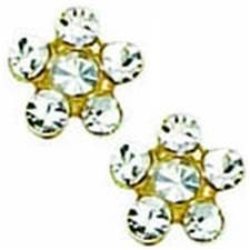 INV 24K GP EARRINGS CRYSTAL WITH CRYSTAL
