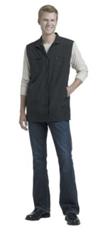 DA BLACK NYLON ZIPPERED VEST