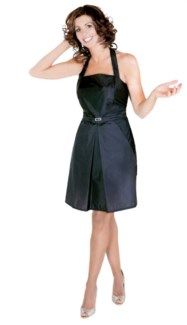DA DESIGNER APRON PLEATED A-LINE SKIRT