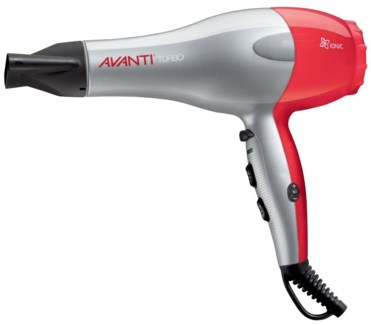 DA AVANTI TURBO IONIC DRYER (SILVER&RED) W/ DIFFUSER