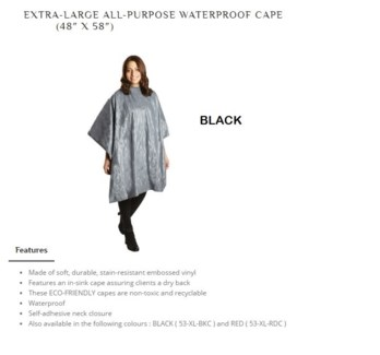 DA BP XL ALL PURPOSE CAPE BLACK