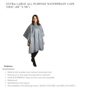 DA ALL PURPOSE EMBOSSED VINYL CAPE - GRAY