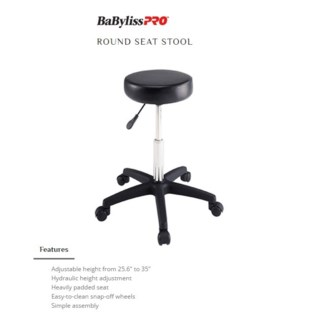 DA BP ROUND STOOL BLACK
