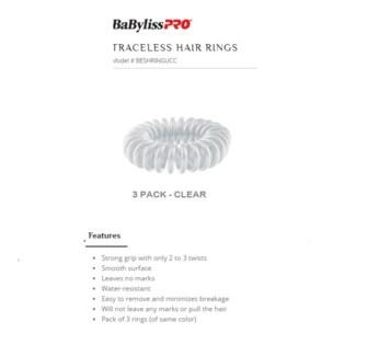 DA BP TRACELESS HAIR RINGS (SET OF 3) CLEAR