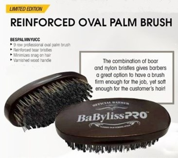 DA BP OVAL PALM BRUSH 9-ROW