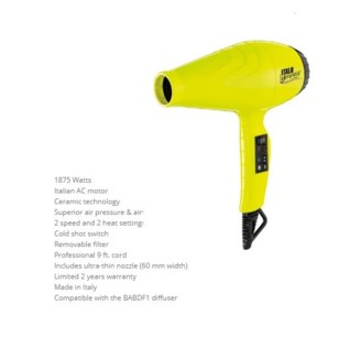 DA BP ITALO LUMINOSO HAIRDRYER - YELLOW