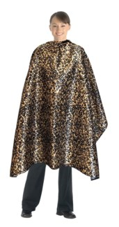 DA CAPE LEOPARD PRINT DELUXE CUTTING CAPE //NEW '09