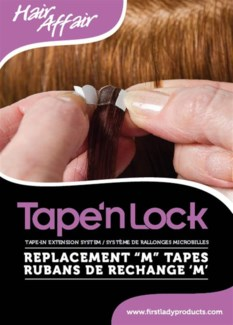 FIRST LADY HAIR AFFAIR TAPE'n LOCK TAPE TAB (50 PC/BAG)