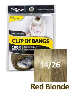 FIRST LADY HAIR AFFAIR CLIP IN BANGS #14/26 RED BLONDE