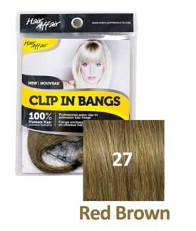 FIRST LADY HAIR AFFAIR CLIP IN BANGS #27 RED BROWN