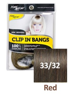 FIRST LADY HAIR AFFAIR CLIP IN BANGS #33/32 RED