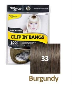 FIRST LADY HAIR AFFAIR CLIP IN BANGS #33 BURGUNDY