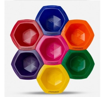 FRAMAR CONNECT AND COLOR BOWLS - RAINBOW COLOR