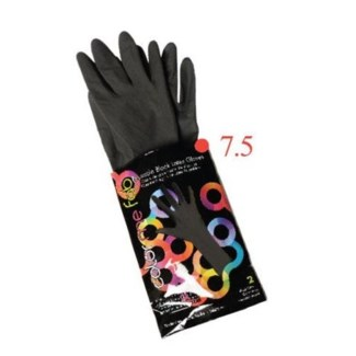 FO COLOR ME FAB REUSABLE LATEX GLOVES 2/PACK SIZE: 7.5