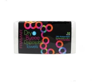 FRAMAR DRY & BYEE TOWELS 50/BOX (DISPOSABLE)