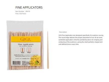 GIGI FINE APPLICATORS/100PK