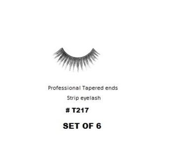 KASINA PRO LASH - TAPERED ENDS - STRIP EYELASH #T217-6 SETS
