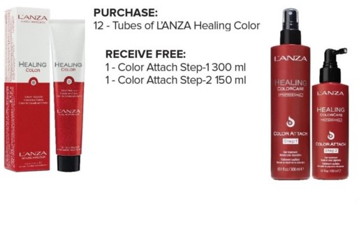 L'ANZA BUY 12 LHC, GET COLOR ATTACH STEP 1 & 2 NC//JA'18