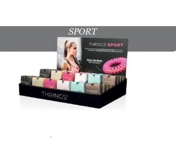 THRINGS - HAIR RINGS - SPORT - 48PC DISPLAY