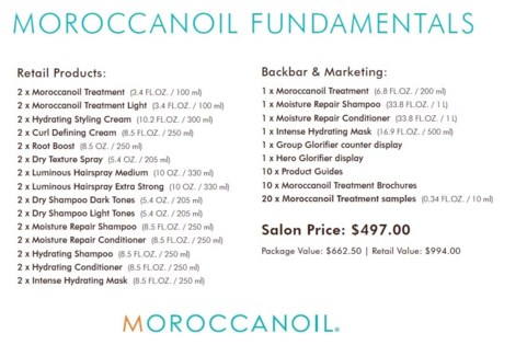 MOROCCANOIL FUNDAMENTALS//2017 (NEW MO SALONS ONLY)