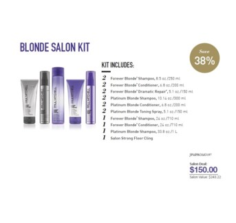 PM FOREVER BLONDE SALON STARTER KIT (FBSLN1F16)//2018