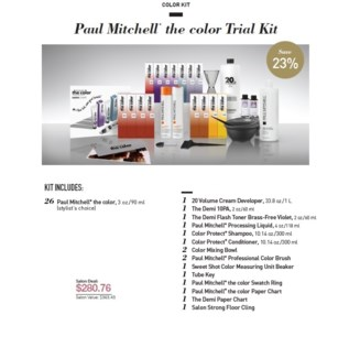 PM THE COLOR TRIAL KIT (TCTK15)//2018 - PREPACKED