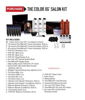 PM THE COLOR XG SALON KIT (XGTSL17)//2018 (CHOOSE 84 TC XG)