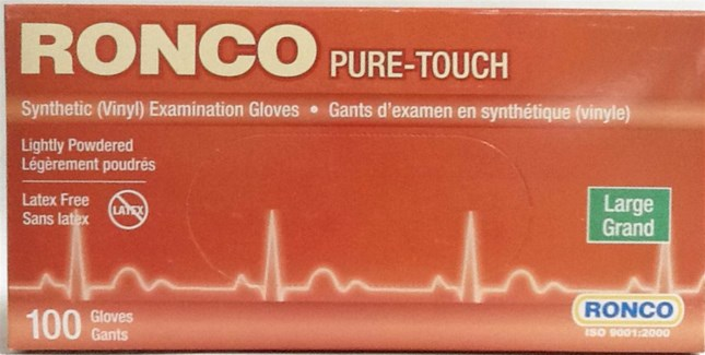 PURE TOUCH GLOVES  LARGE