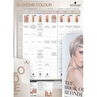 SC BLONDME COLOR CHART//2018