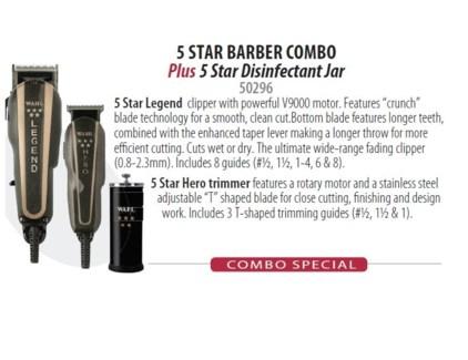 WAHL 5 STAR BARBER COMBO (LEGEND/HERO/JAR)//ND'17