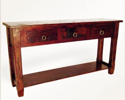 Bike Chain 3 Drawer Console Table
