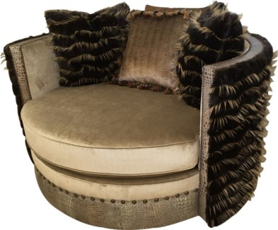 "56"" Manhattan Swivel Loveseat"