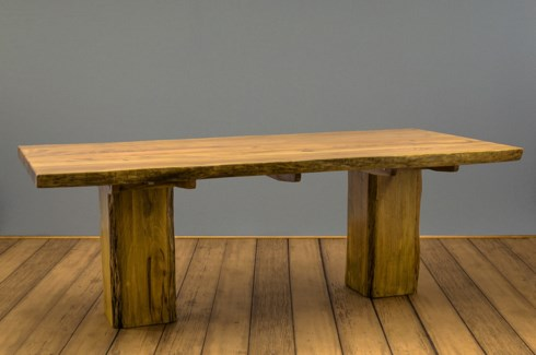 """90"""" Rustic Wood Dining Table"""