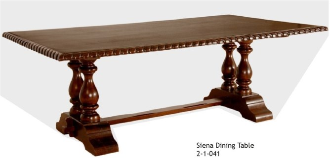 "84"" Siena Dining Table"
