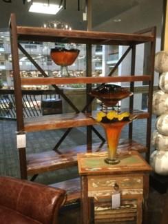 Reclaimed Wood Iron Book Shelf