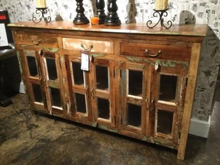 Reclaimed Wood 6 Door Buffet