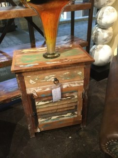 Reclaimed Wood Shutter Night Stand
