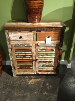 Reclaimed Wood Shutter Small Console