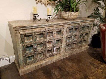 Reclaimed Wood Old Door Cabinet