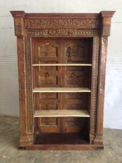 Reclaimed Wood Old Door Bookshelf