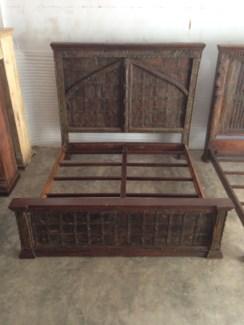 Reclaimed Wood Old Door Bed
